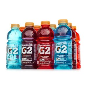 G2 Gatorade bottles.