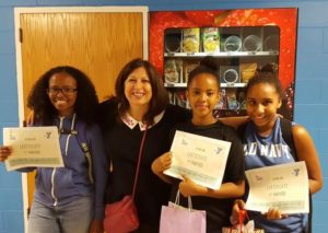Wicked Healthy Vending Essay winners with Tina Paine