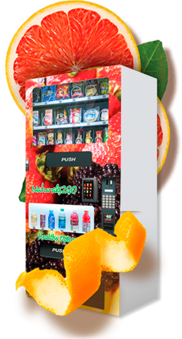 Wicked Healthy Vending machine and oranges
