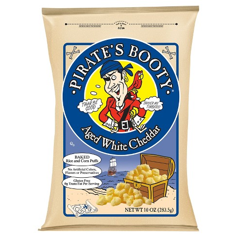 Pirate's Booty aged white cheddar.
